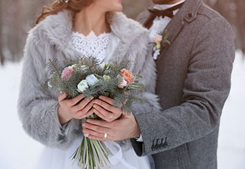 A Wintertime Vow Renewal in the Pocono Mountains