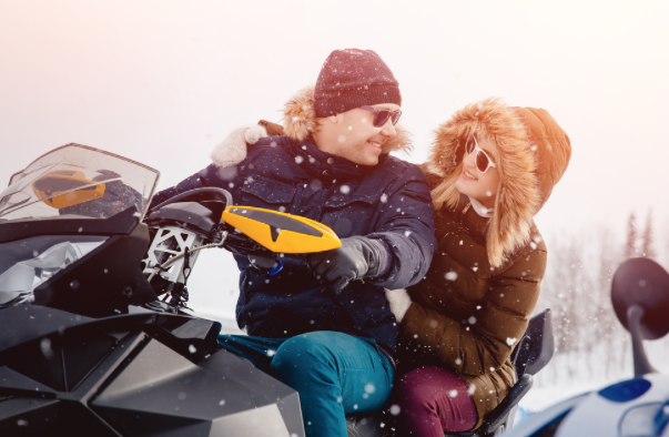 Adventure and Romance: Snowmobiling in the Poconos